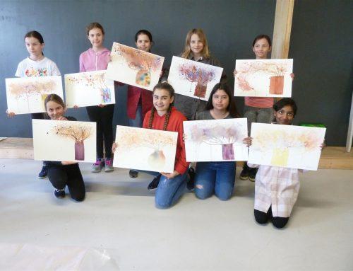 Aquarell Kurs mit Langenthaler Schülern