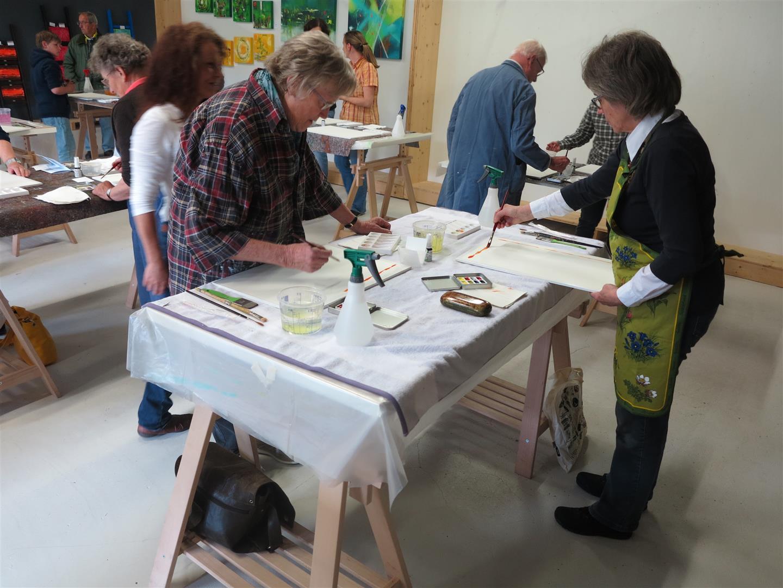 Aquarell Workshop arte via mit Sabine Dreher